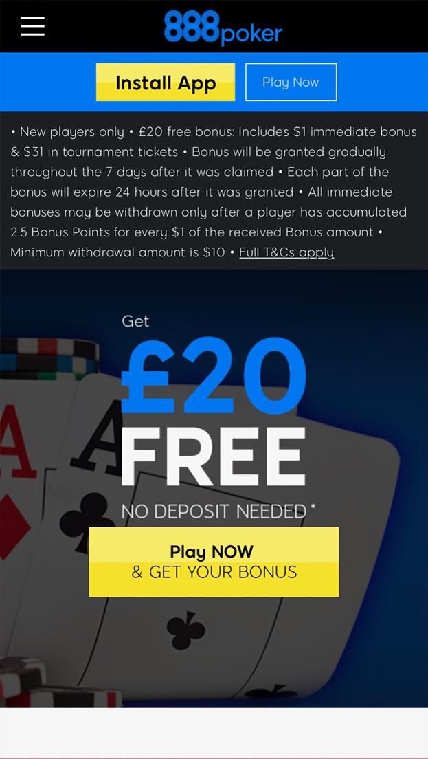 Poker Free Bet